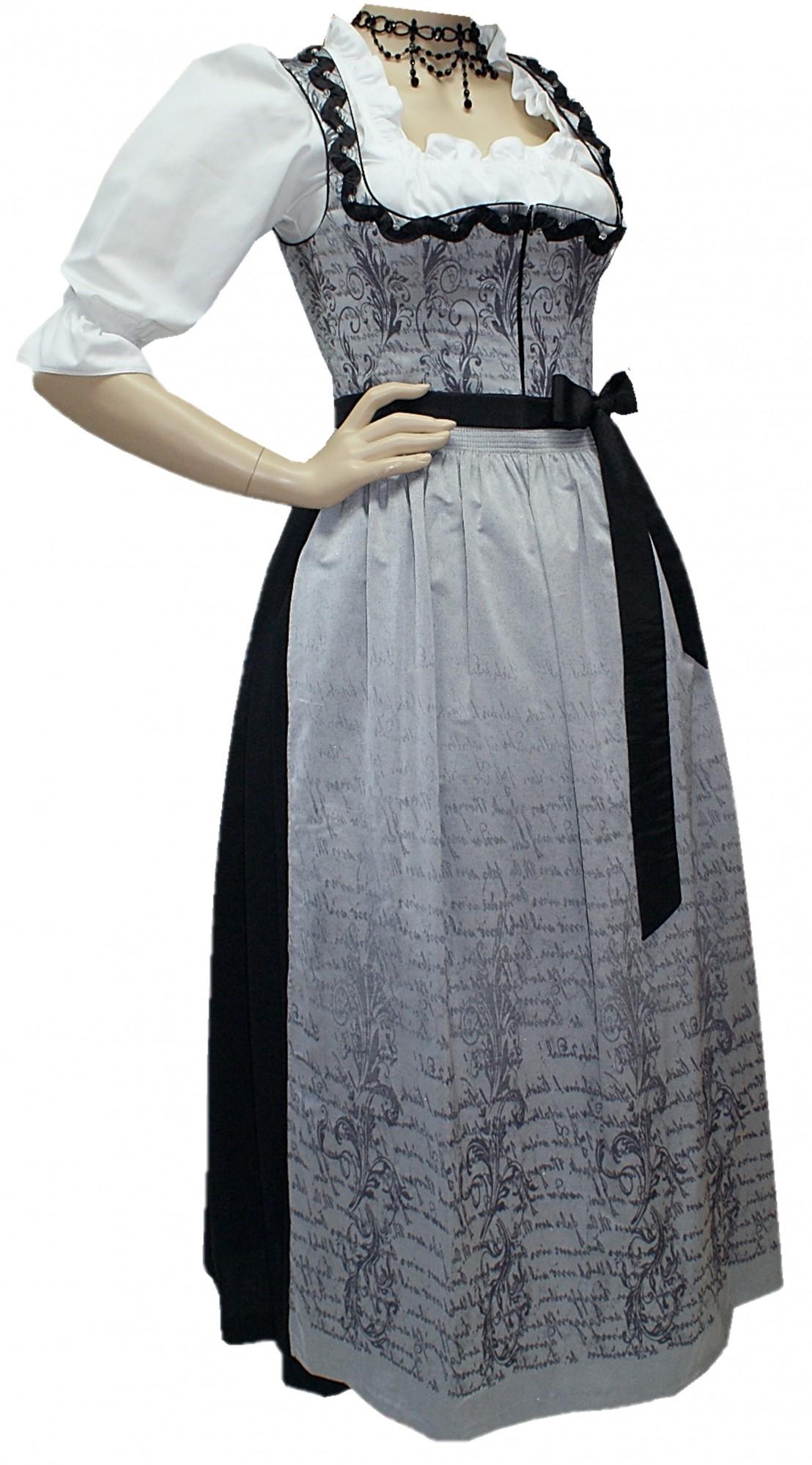 Gr.36-50 Balkonett-Dirndl Festtracht Kleid Trachtenkleid ...