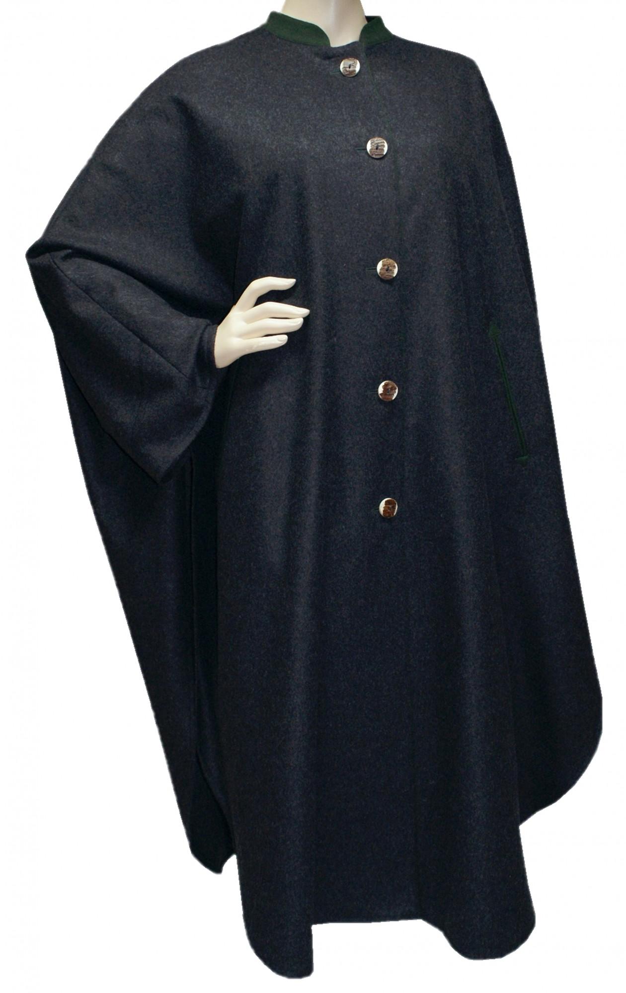 s xl damen wetterfleck grau loden umhang cape poncho. Black Bedroom Furniture Sets. Home Design Ideas