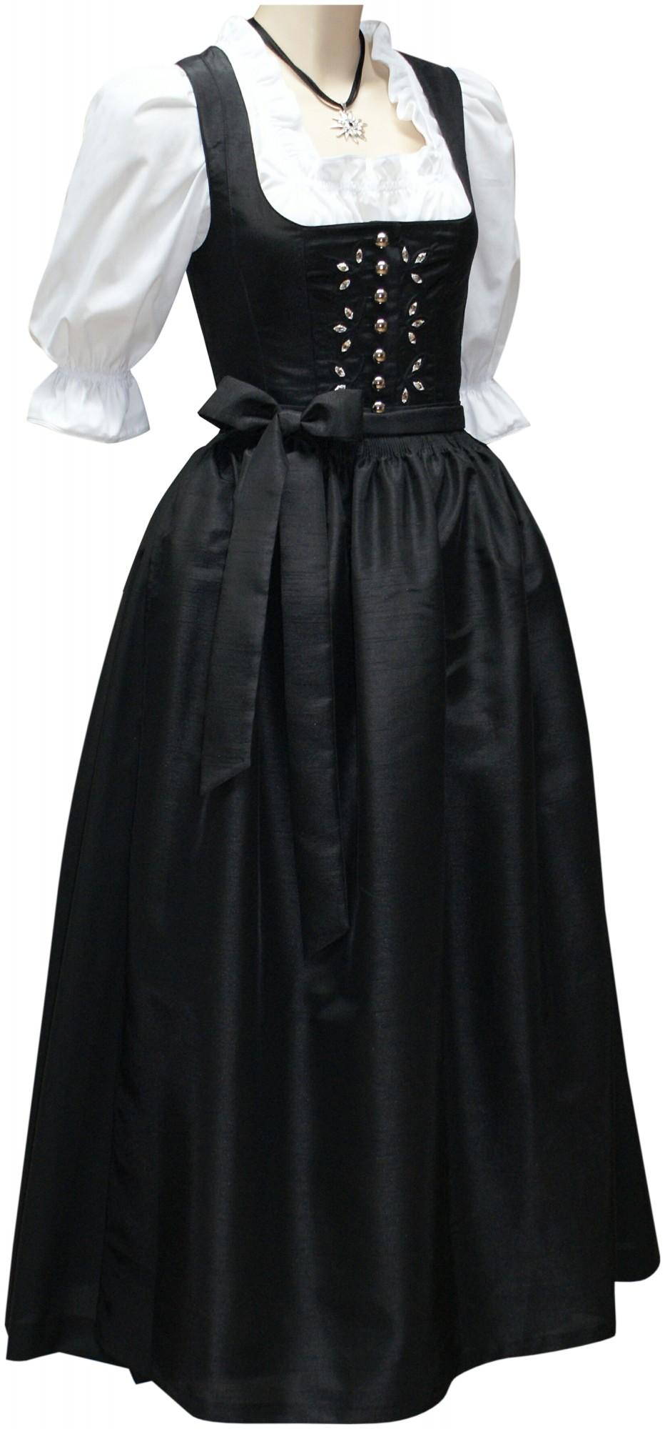 dirndl festtracht kristall kleid trachtenkleid dirndlkleid ballkleid schwarz damenbekleidung. Black Bedroom Furniture Sets. Home Design Ideas
