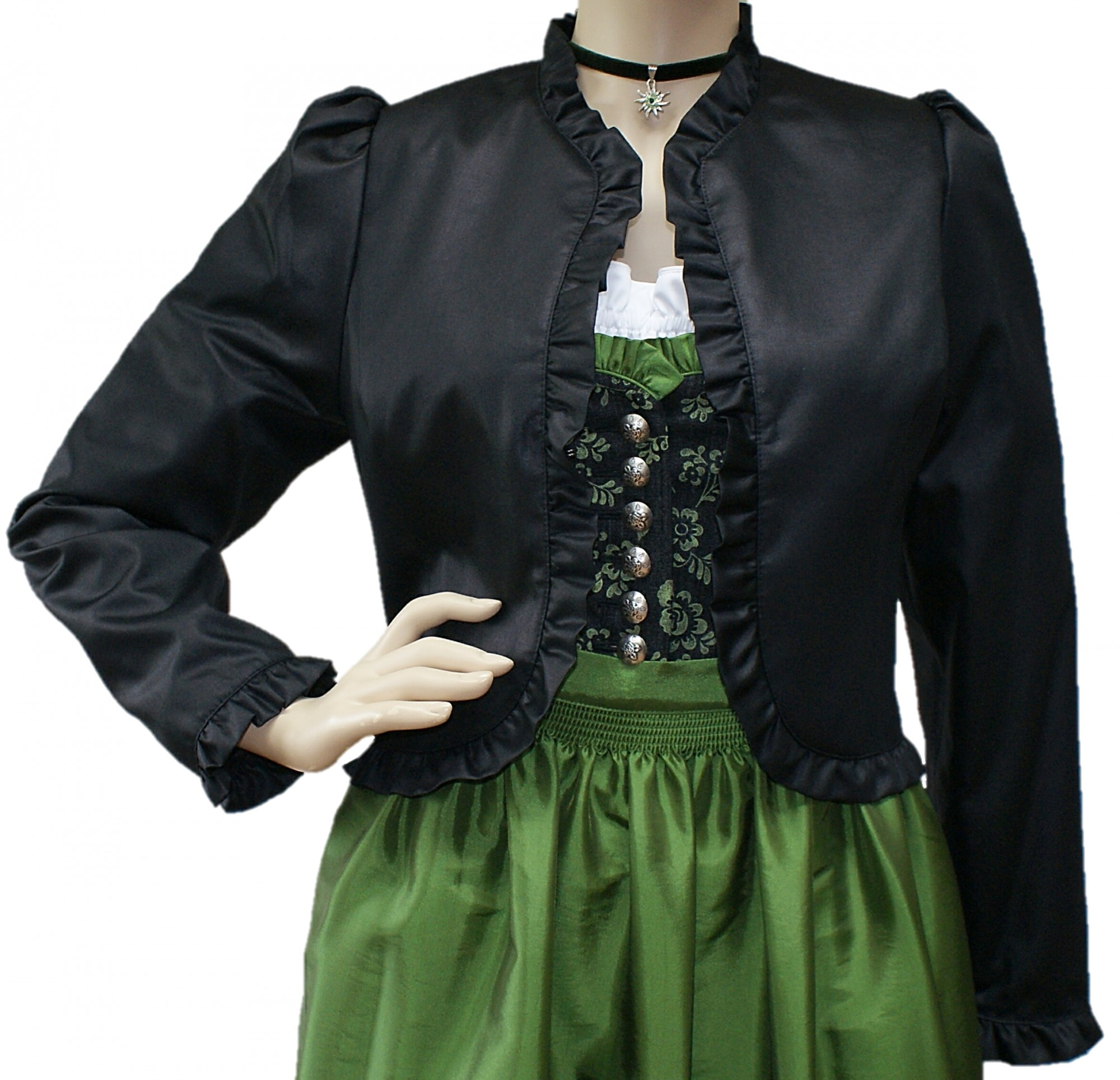 34 50 dirndljacke dirndl jacke spenzer bolero. Black Bedroom Furniture Sets. Home Design Ideas